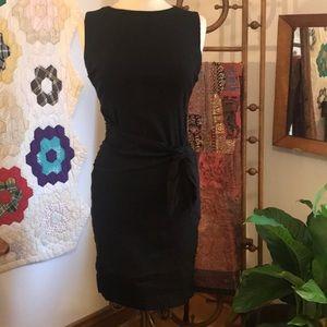 Sara Campbell Stretch Linen Ruched Dress